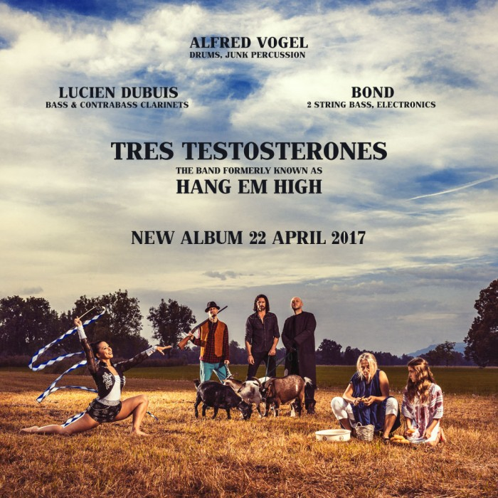 TRES TESTOSTETONES cover flyer